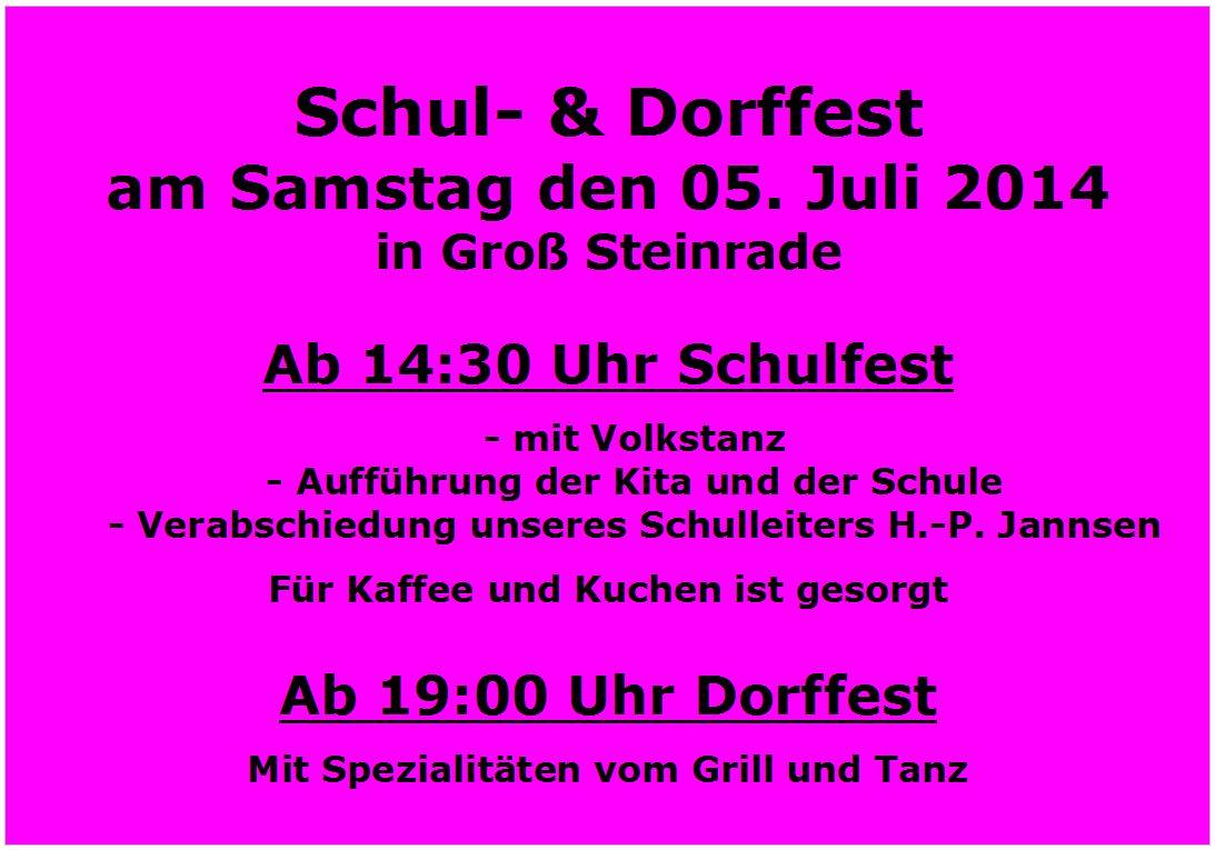 Einladung zum Schul- & Dorffest